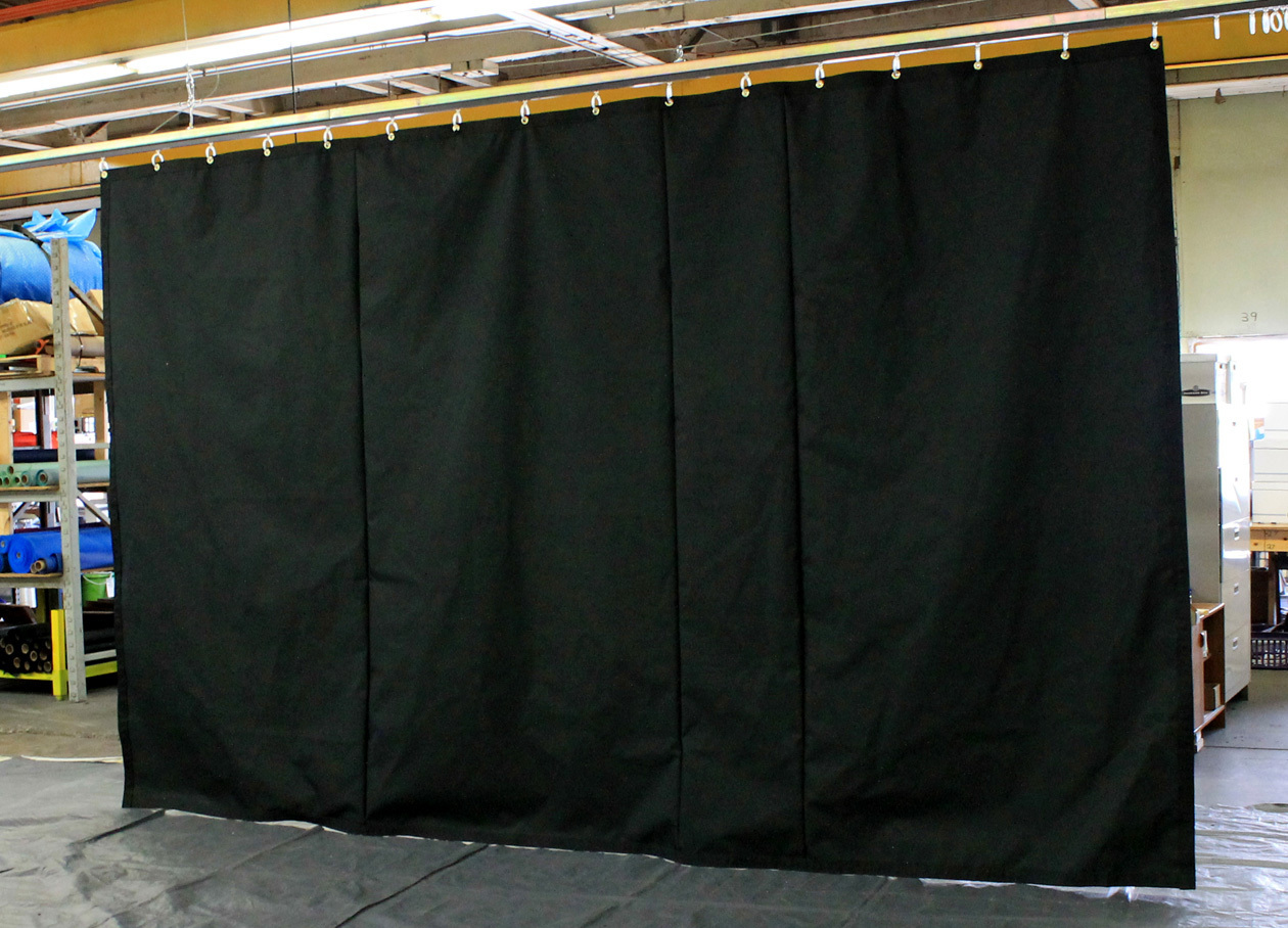 Black Industrial Stage Curtains (non FR)